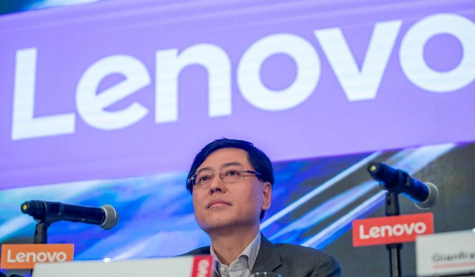 Yang Yuanqing, chairman and chief executive officer of Lenovo Group, attends a news conference in Hong Kong, May 23, 2019. Photo: Bloomberg