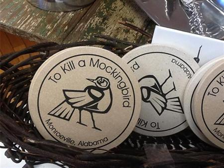 Drink coasters are shown for sale at the Monroe County Heritage Museum in Monroeville