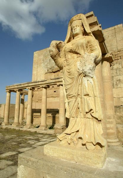 "It remains unclear how much damage has been done by jihadists to ancient sites in Hatra, such as the statue of ""The Lady of Hatra"" shown here in 2003"