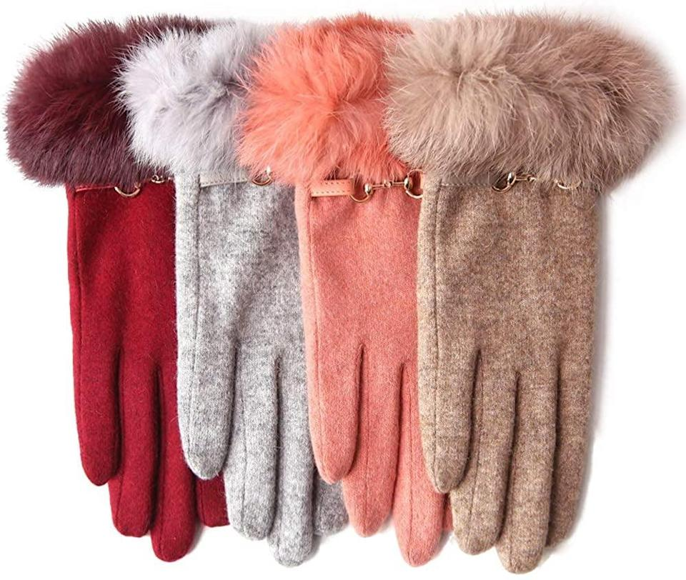 <p>Help them stay warm this winter with these <span>WARMEN Wool Gloves Touchscreen Gloves</span> ($10).</p>
