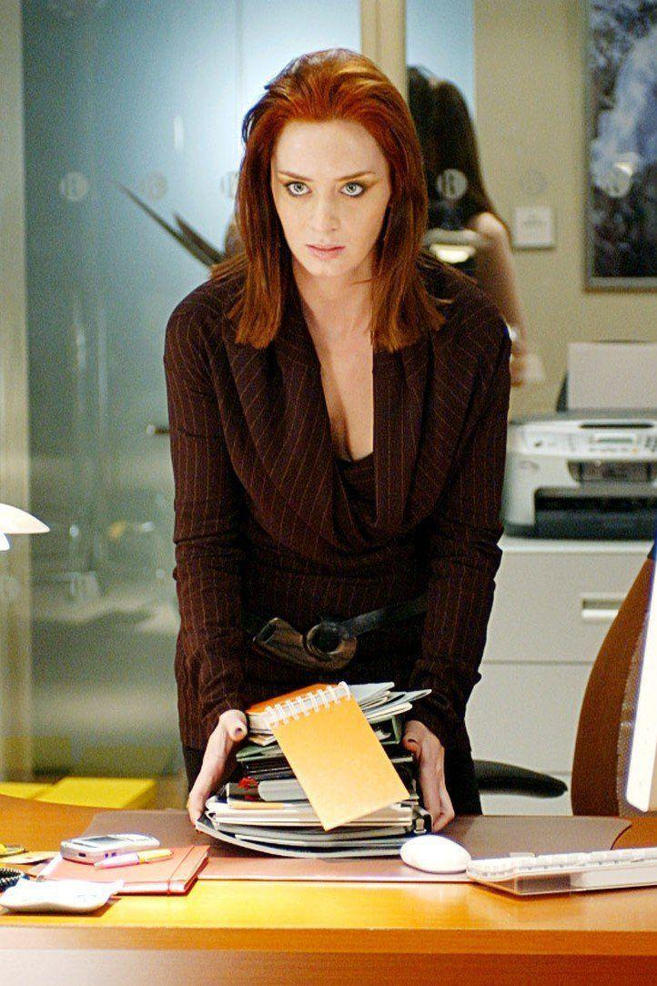 <p>Give Emily Blunt some fiery red hair and she becomes the high-strung, highly-competitive co-worker you don't necessarily always want to be around but still kinda love. Even though she had starred in a few projects before this, <em>The Devil Wears Prada</em> was Blunt's first big American movie.</p>