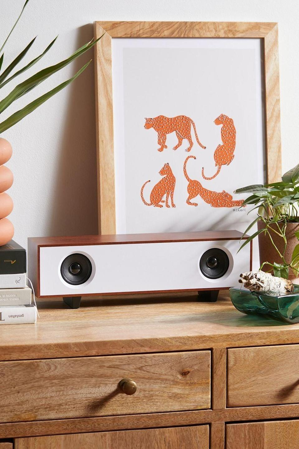 <p>They'll love listening to their favorite tuns on the <span>ART+SOUND Avant Soundbar Speaker</span> ($50). The stylish design will look good on display too.</p>