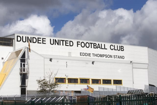 Dundee United are set to be promoted (Jeff Holmes/PA)
