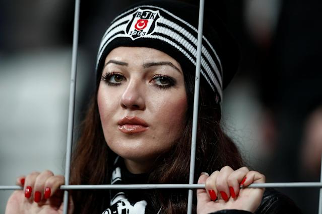Soccer Football - Super Lig - Besiktas vs Osmanlispor - Vodafone Arena, Istanbul, Turkey - December 17, 2017 Besiktas fan REUTERS/Murad Sezer