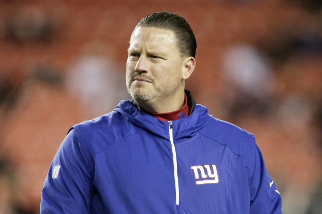 Former New York Giants coach Ben McAdoo is back in the NFL. (AP Photo/Mark Tenally, File)