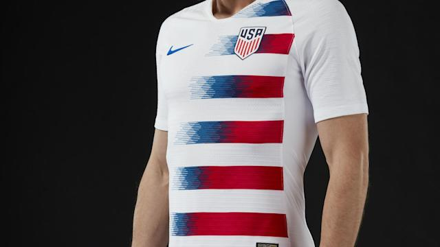 The U.S. men's national team will debut the new away uniform against Paraguay on Tuesday before the women's squad wears the home jersey versus Mexico