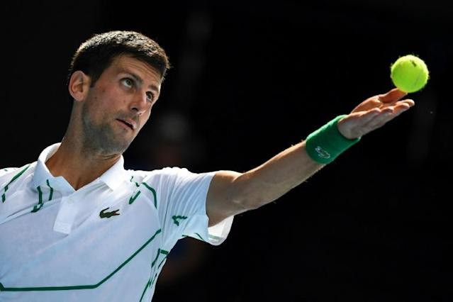 World number two Novak Djokovic was in fine touch to make the Australian Open fourth round (AFP Photo/William WEST)