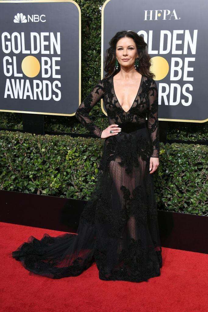 <p>Catherine Zeta-Jones, who will soon star in <i> Cocaine Godmother: The Griselda Blanco Story</i>, attends the 75th Annual Golden Globe Awards at the Beverly Hilton Hotel in Beverly Hills, Calif., on Jan. 7, 2018. (Photo: Steve Granitz/WireImage) </p>