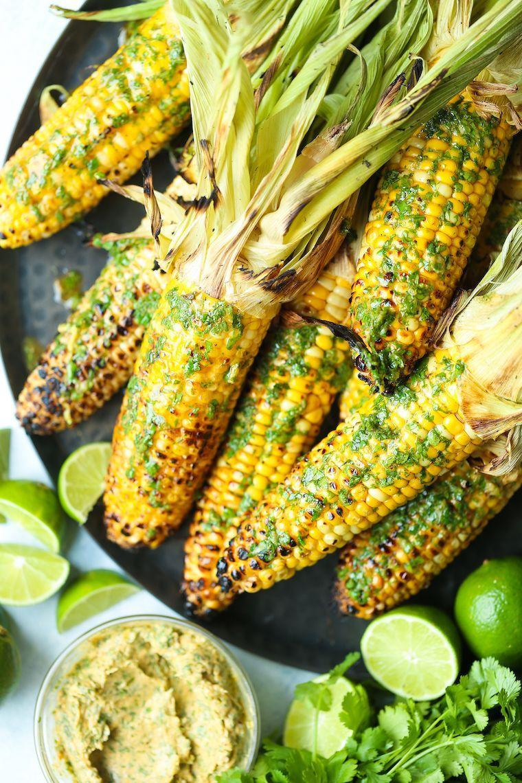 "<p>Put a spin on your corn on the cob by smothering it with this delicious cilantro lime butter.</p><p><strong>Get the recipe at <a href=""https://damndelicious.net/2019/06/04/grilled-corn-with-cilantro-lime-butter/"" rel=""nofollow noopener"" target=""_blank"" data-ylk=""slk:Damn Delicious"" class=""link rapid-noclick-resp"">Damn Delicious</a>.</strong></p><p><strong><a class=""link rapid-noclick-resp"" href=""https://go.redirectingat.com?id=74968X1596630&url=https%3A%2F%2Fwww.walmart.com%2Fsearch%2F%3Fquery%3Dbasting%2Bbrush&sref=https%3A%2F%2Fwww.thepioneerwoman.com%2Ffood-cooking%2Fmeals-menus%2Fg35993911%2Fbest-corn-recipes%2F"" rel=""nofollow noopener"" target=""_blank"" data-ylk=""slk:SHOP BASTING BRUSHES"">SHOP BASTING BRUSHES</a><br></strong></p>"