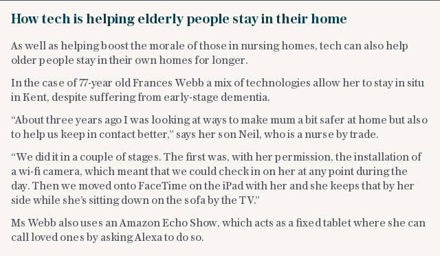 The tech keeping elderly people in their homes