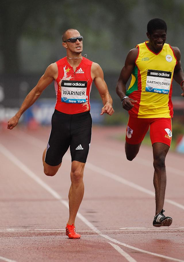 NEW YORK - JUNE 11: Jeremy Wariner of the US races en route to winning the Men's 400m during the adidas Grand Prix at Icahn Stadium on June 11, 2011 in New York City. (Photo by Mike Stobe/Getty Images)