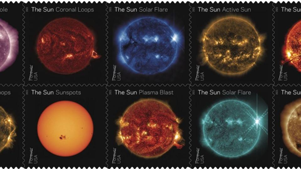 NASA has partnered with USPS to release a set of stamps celebrating the Sun