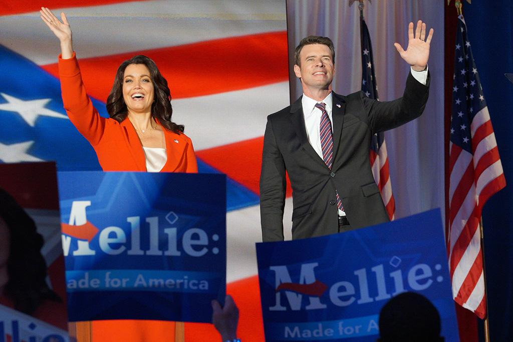 """<p><b>This Season's Theme: </b> Will former first lady and current senator Mellie Grant (Bellamy Young) prevail over Democratic challenger Francisco Vargas? """"It is a little art imitates life imitates art,"""" says Young. (The premiere episode was written and produced last summer — well before the real-life presidential election.) Young promises """"an unbelievably wild ride."""" <br /><br /><b>Where We Left Off: </b> Olivia (Kerry Washington) and the gladiators scrambled to find a VP for Mellie's ticket. She ended up choosing Jake (Scott Foley) as a way of getting him out from her father Rowan's (Joe Morton) control. Meanwhile, with Jake no longer an option for Francisco Vargas, Cyrus (Jeff Perry) made an unconventional move — and selected himself as the VP candidate. <br /><br /><b>Coming Up: </b> The premiere takes place on election night, and in a bit of a departure for <i>Scandal</i>, flashbacks will clue in viewers to what happened on the campaign trail. """"We'll go back and forth in time and see the paths that led the characters up to that moment,"""" Young says. """"We'll get more information about the campaign, more information about everyone's shifting alliances."""" Election night will be the culmination of everything that Mellie and Olivia worked for. """"What follows is so explosive for Mellie,"""" says Young. """"She will never be the same."""" <br /><br /><b>The Fitz of It All: </b> Their shared history with Fitz is """"always going to be a little bit of a crack between Mellie and Olivia,"""" admits Young. """"Even though they've done nothing but show up for each other, and Olivia's been very clear that they're both living in a post-Fitz world."""" #MelliviaForever! <i>— KW</i> <br /><br />(Credit: Byron Cohen/ABC) </p>"""