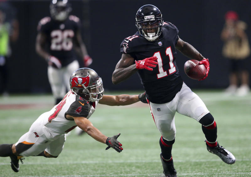 Atlanta Falcons wide receiver Julio Jones is coming off a big game against the Buccaneers. (AP)