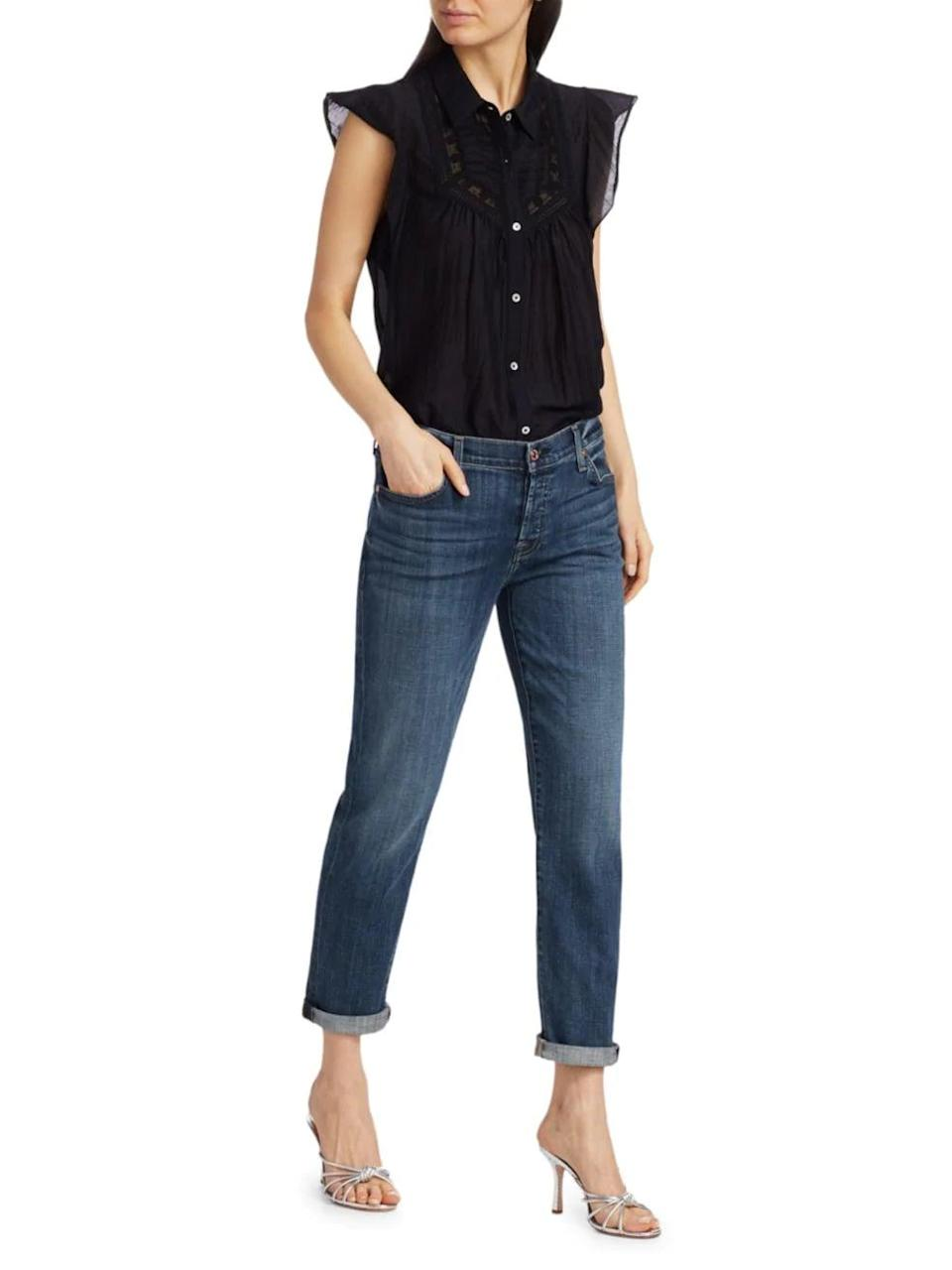"""<p>""""Even though I have a closet full of jeans, somehow I always go back to my favorite <span>7 For All Mankind Josefina Boyfriend Jeans</span> ($199). I basically live in them because they're so soft, they don't cut into my stomach, and they have a cool vintage feel."""" - Nikita Charuza, editor, Fashion</p>"""
