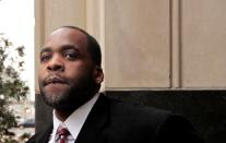 FILE PHOTO: Former Detroit Mayor Kwame Kilpatrick leaves the U.S. District Court after he was convicted on federal racketeering and other charges in Detroit