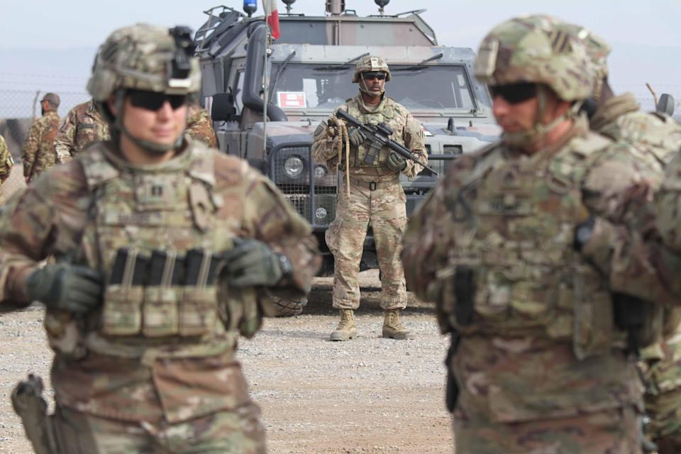 US soldiers attend a training session for the Afghan Army in Herat, Afghanistan, 02 February 2019 (EPA)