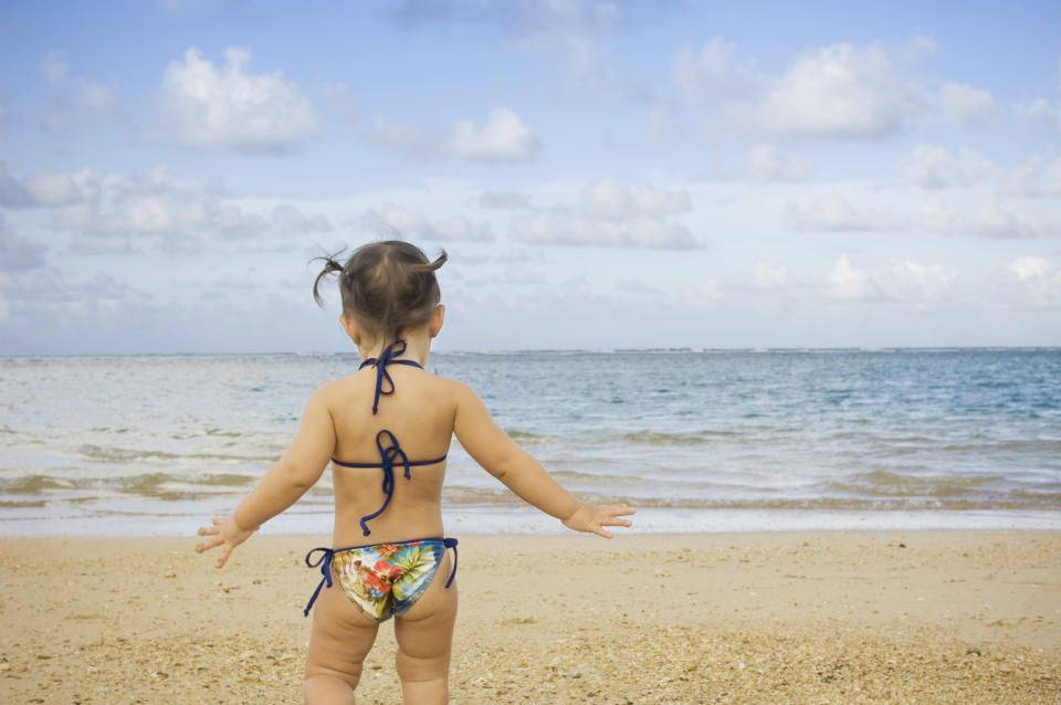 A mum has started a debate online about whether toddlers should wear bikinis [Photo: Getty]