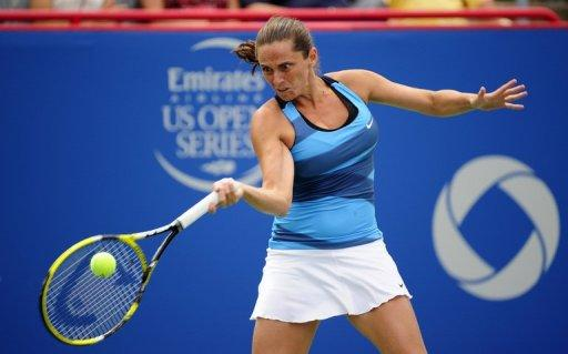 Roberta Vinci (pictured) needed just 44 minutes to oust the 11th seeded Ana Ivanovic, in Montreal