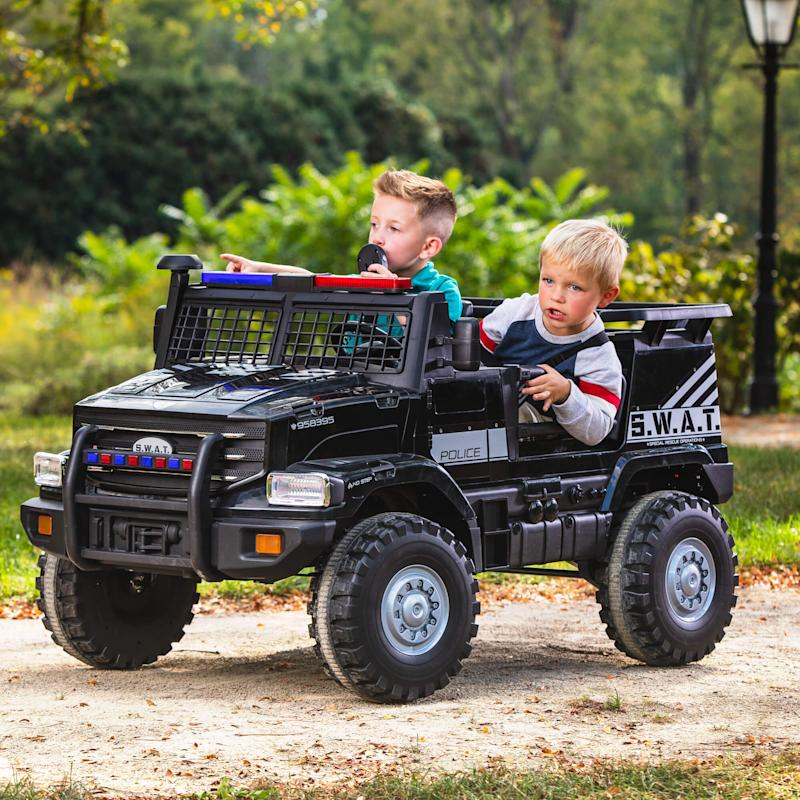 Huffy 12V Battery-Powered SWAT Truck 2-Seater Ride-On Toy. (Photo: Walmart)