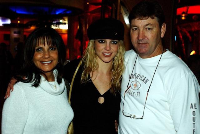 Britney Spears with her parents at Planet Hollywood, Las Vegas. (Denise Truscello/WireImage)