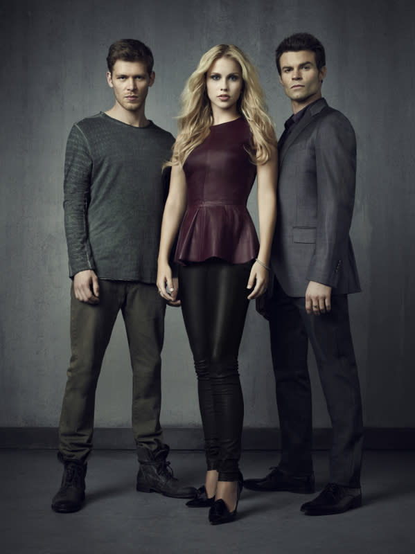 """The Vampire Diaries"" -- Joseph Morgan as Klaus, Claire Holt as Rebekah and Daniel Gillies as Elijah"