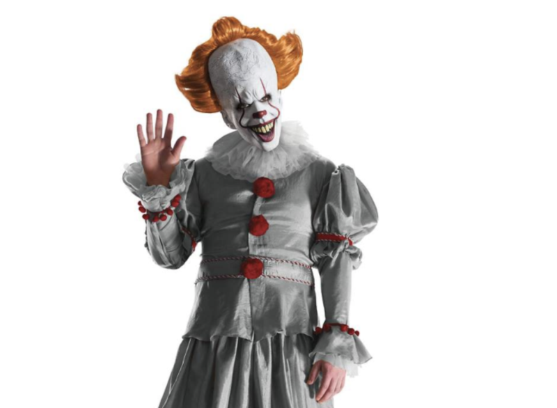 "Expect to see plenty of ""It Chapter Two"" star Pennywise at your Halloween party. (Photo: Spirit Halloween)"