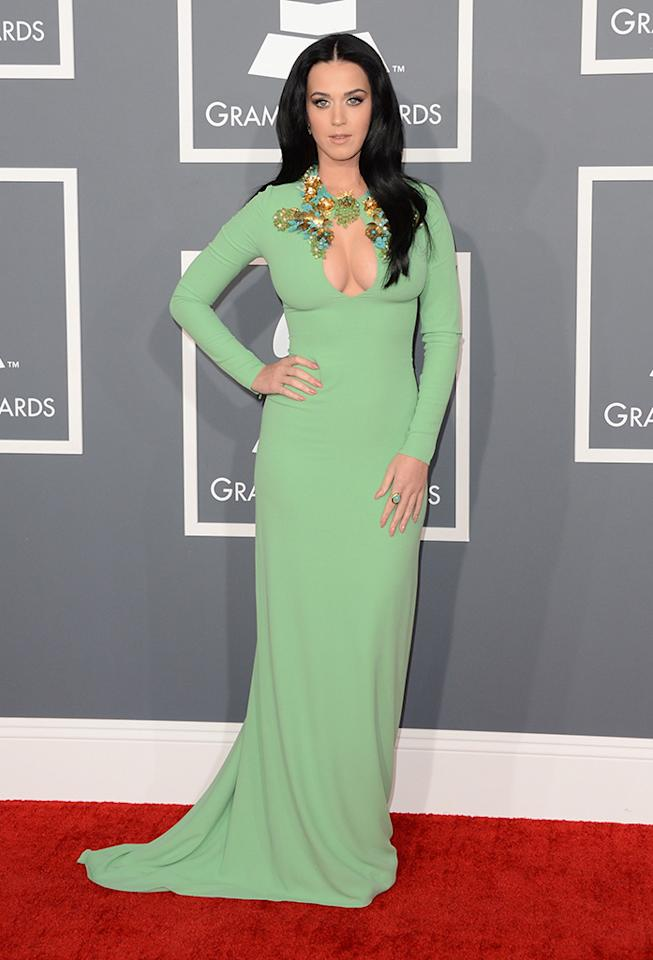 Katy Perry arrives at the 55th Annual Grammy Awards at the Staples Center in Los Angeles, CA on February 10, 2013.