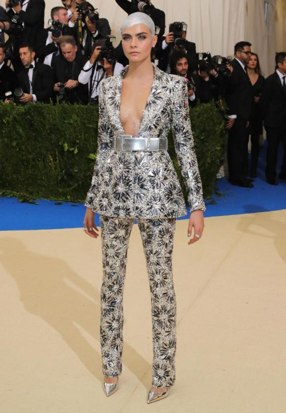 Cara Delevingne attends 2017 Met Gala (Getty Images)