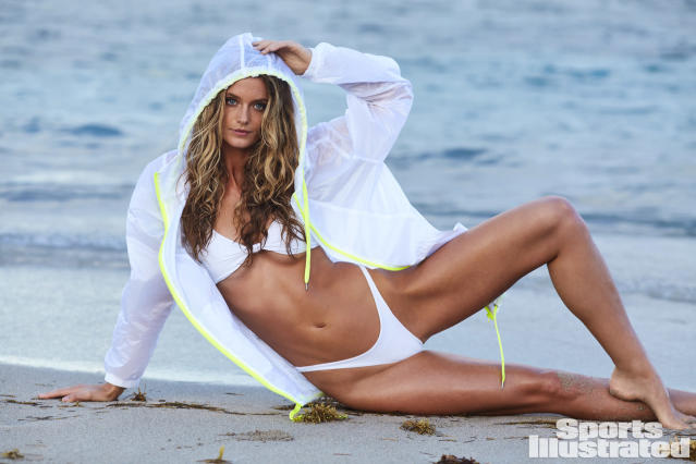 "<p>Kate Bock was photographed by Josie Clough in Nevis. Jacket by <a href=""https://www.forever21.com/us/shop"" rel=""nofollow noopener"" target=""_blank"" data-ylk=""slk:Forever 21"" class=""link rapid-noclick-resp"">Forever 21</a>. Swimsuit by <a href=""http://mikoh.com/"" rel=""nofollow noopener"" target=""_blank"" data-ylk=""slk:MIKOH."" class=""link rapid-noclick-resp"">MIKOH.</a></p>"