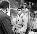 <p>On Broadway in 1959's <em>A Raisin in the Sun</em>; he later starred in the 1961 film version of the story.</p>