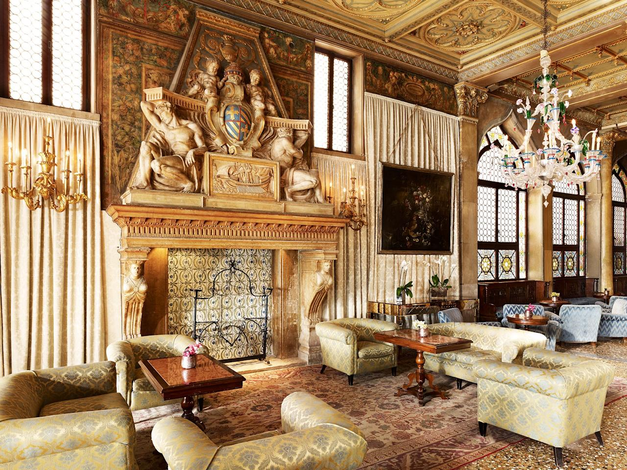 """As one of the city's most important landmarks, the <a href=""""https://www.cntraveler.com/hotels/italy/roma/hotel-danieli-luxury-collection-venice?mbid=synd_yahoo_rss"""" target=""""_blank"""">Hotel Danieli</a>—and the 204 stately guest rooms inside—is a showcase of Venetian excellence. Set on Riva degli Schiavoni, the grand building, a converted 14th-century Doge's palace, dominates the lagoon. It sits just a short stroll away from the Bridge of Sighs and the monuments of Piazza San Marco. At the rooftop restaurant, Terrazza Danieli, you'll find simple but thoughtful Venetian dishes—think a wild sea bass fillet in a light sauce of sea urchin, or a veal cutlet with caramelized milk bread. Relax after a day out on the terrace, which has unobstructed views of San Giorgio Maggiore island."""