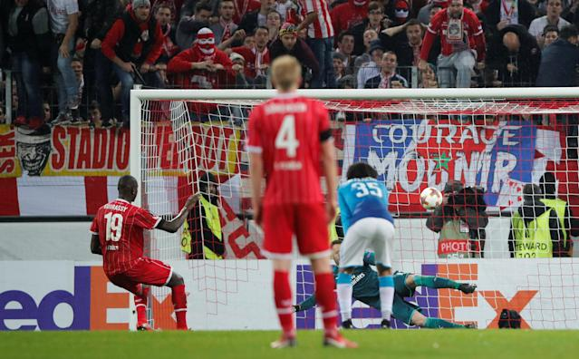 Arsenal were beaten by a single goal in Cologne.