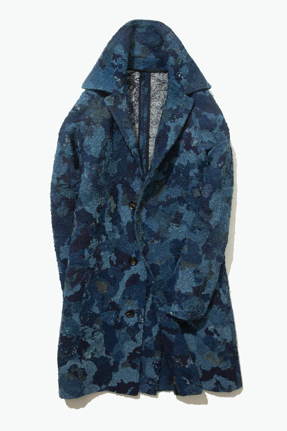 "<p>stoffa.co</p><p><strong>$1600.00</strong></p><p><a href=""https://stoffa.co/products/edition-002-chindi-raglan-coat-indigo"" rel=""nofollow noopener"" target=""_blank"" data-ylk=""slk:Shop Now"" class=""link rapid-noclick-resp"">Shop Now</a></p>"