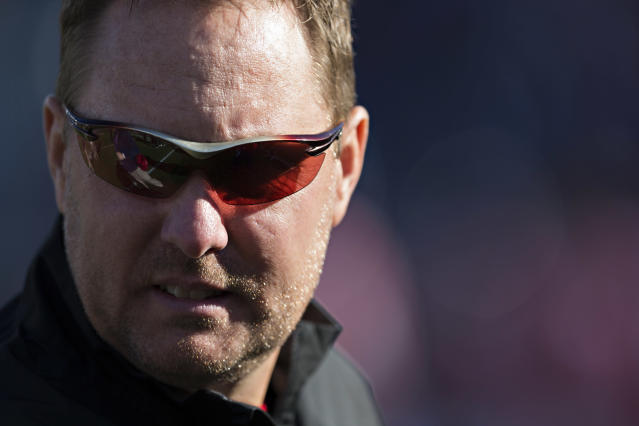 Liberty head coach Hugh Freeze was released from a hospital on Wednesday. (Photo by Wesley Hitt/Getty Images)