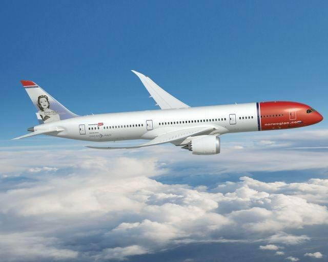 Norwegian files several transatlantic routes with its Boeing 787 Dreamliner planes