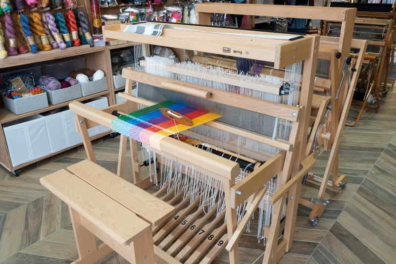 Picture of a loom at Craft Atelier used during the weaving craft workshop