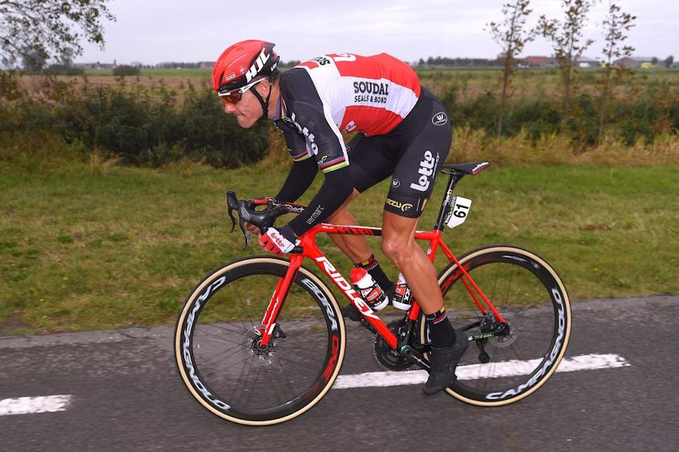 Lotto Soudal's Philippe Gilbert on the opening stage of the 2020 BinckBank Tour