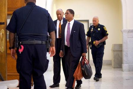 Actor and comedian Cosby, arrives for his sexual assault retrial case in Norristown