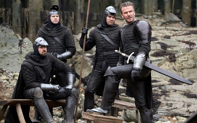 David Beckham in a scene from King Arthur: Legend of the Sword - Warner Bros. Pictures