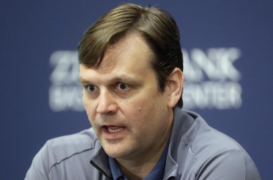 Former Spurs assistant GM Dennis Lindsey has rebuilt the Jazz into a young contender. (AP)