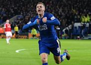 Jamie Vardy's goals have fired Leicester City to the top of the Premier League table (AFP Photo/Oli Scarff)