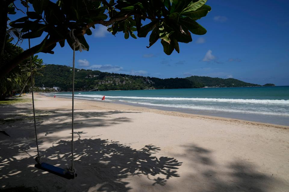 Phuket's beaches have been deserted since the pandemic decimated Thailand's travel sector  (AP)