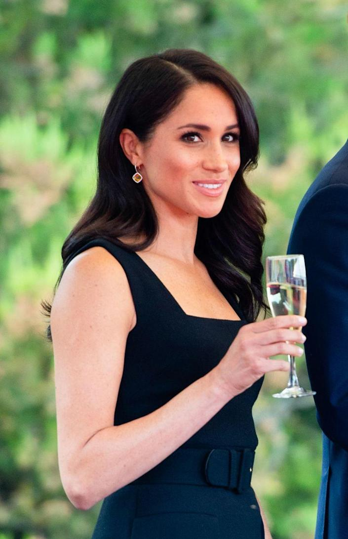 """<p><a href=""""https://www.marieclaire.com/culture/g4985/strict-rules-the-royal-family-has-to-follow/?slide=29"""" rel=""""nofollow noopener"""" target=""""_blank"""" data-ylk=""""slk:Hence"""" class=""""link rapid-noclick-resp"""">Hence</a> all the single-bites-of-cake pics and champagne holding you see throughout this slideshow.</p>"""