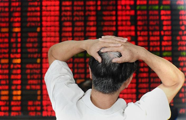 Shanghai's benchmark composite index adds 2.29%, or 72.64 points, to 3,243.09 (AFP Photo/)