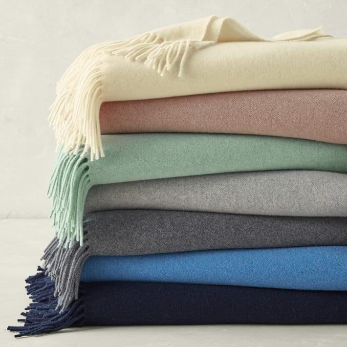 <p>They'll never want to part from this cozy, luxurious <span>Williams Sonoma European Solid Cashmere Throw</span> ($279), and it's something they'll have for years to come.</p>