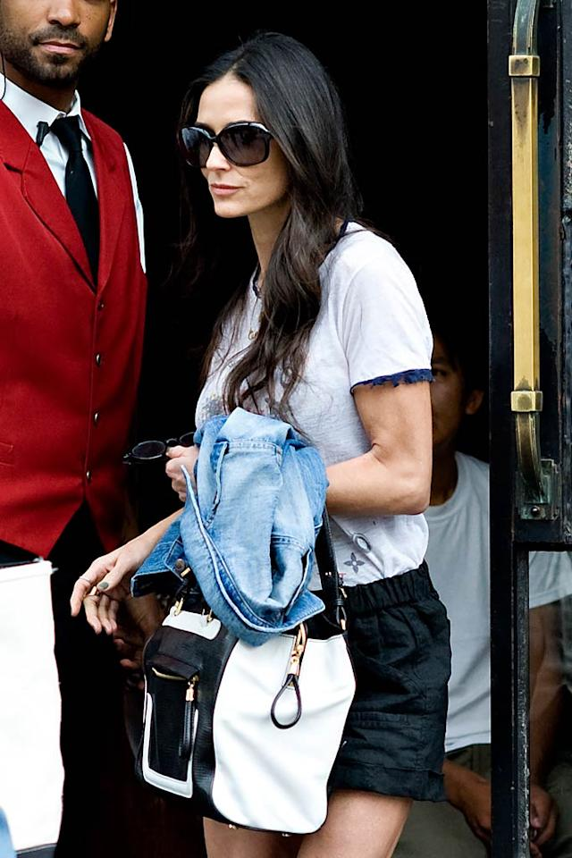 """Ashton Kutcher's """"terrified"""" Demi Moore will """"air the dirty laundry about their marriage"""" in an upcoming memoir she's writing, reports <i>In Touch</i>. The mag adds Kutcher's """"afraid she'll ruin his image by exposing all of their secrets"""" for allegedly cheating. For the inside dish on what Moore's shockingly going to reveal, and how Kutcher's trying to stop the book's publication, log on to <a target=""""_blank"""" href=""""http://www.gossipcop.com/demi-moore-book-secrets-ashton-kutcher-marriage-divorce-memoir/"""">Gossip Cop</a>."""