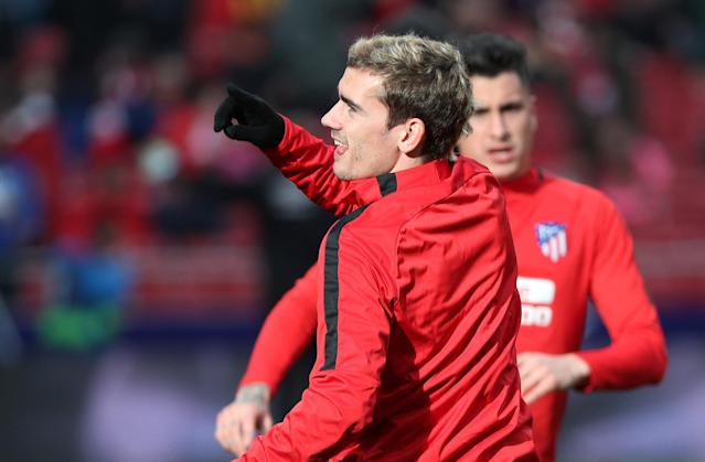 Soccer Football - La Liga Santander - Atletico Madrid vs Girona - Wanda Metropolitano, Madrid, Spain - January 20, 2018 Atletico Madrid's Antoine Griezmann during the warm up before the match REUTERS/Sergio Perez