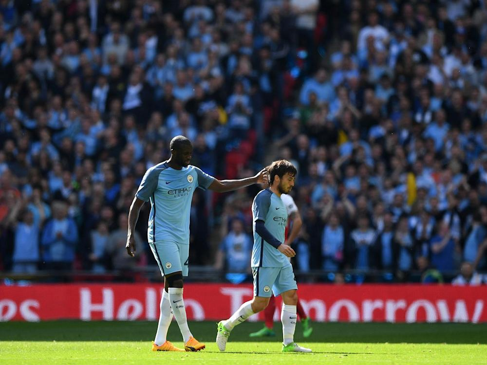 Yaya Toure was left angry with the performance of referee Craig Pawson: Getty