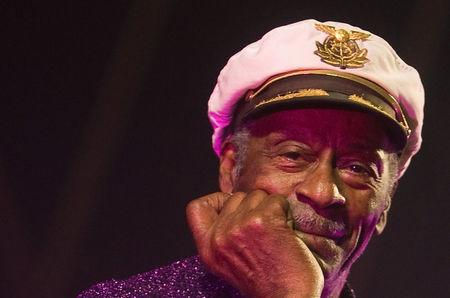 FILE PHOTO - Rock and roll legend Chuck Berry poses for photographers during a concert in Burgos